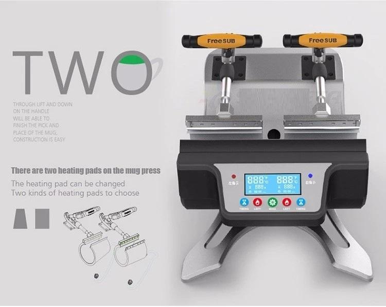 Double mug press machine ST-210