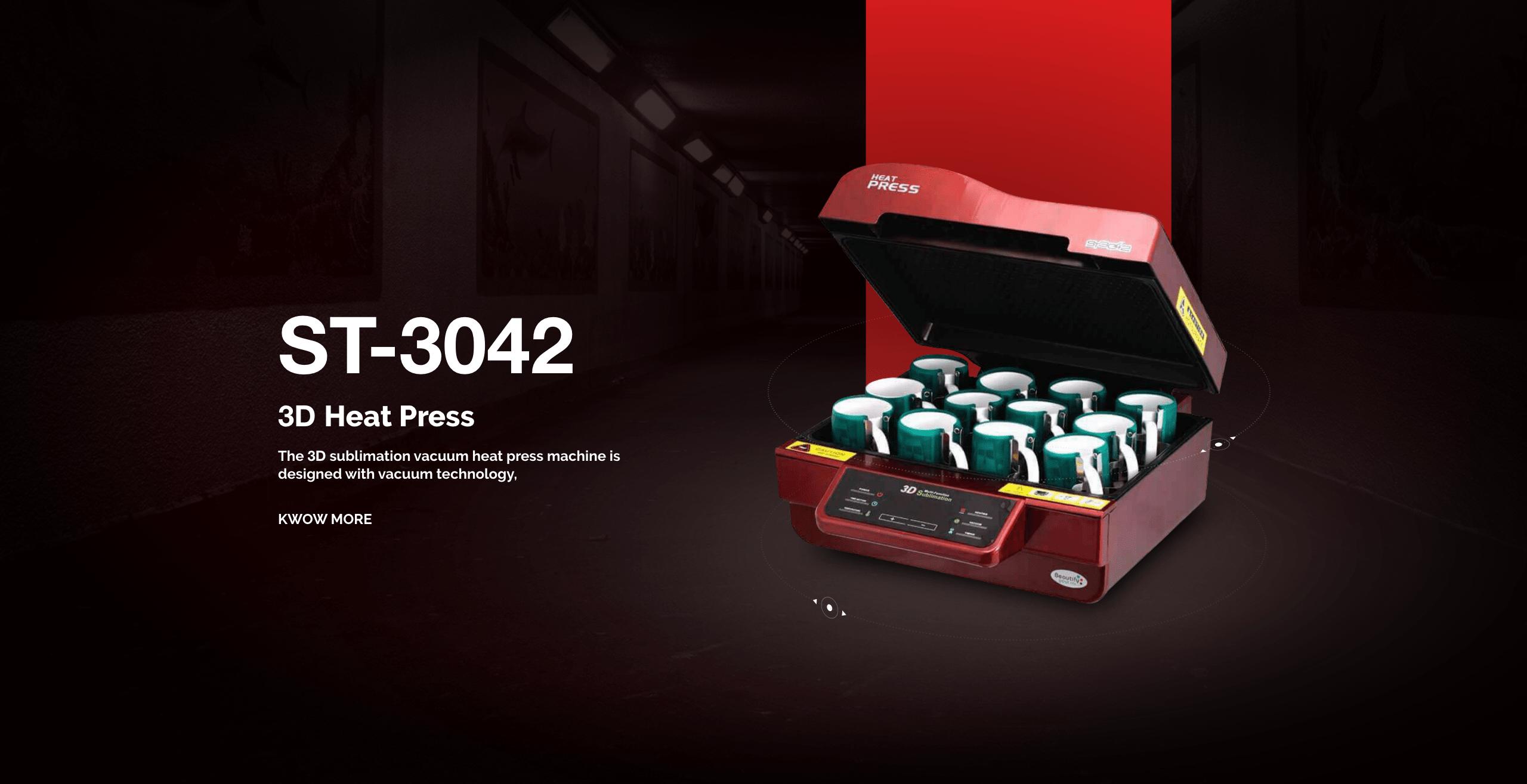 Sublimation 3D Vacuum Heat press ST-3042
